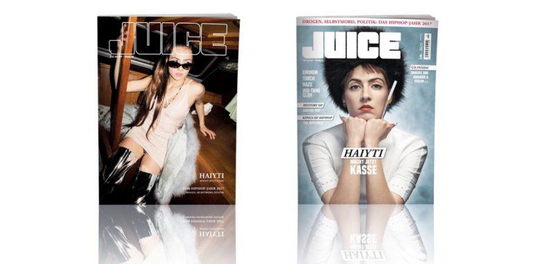 JUICE #184 mit Haiyti-Cover und JUICE-CD #140 ab dem 21.12. überall erhältlich!