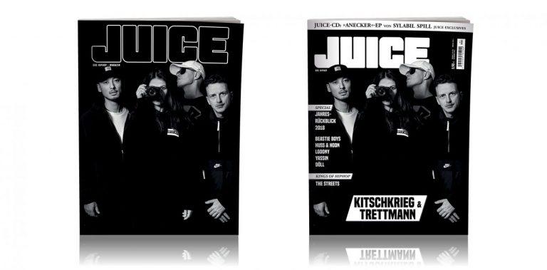 JUICE #190 mit KitschKrieg-&-Trettmann-Cover und Exclusive EP von Sylabil Spill ab 20.12. überall erhältlich!