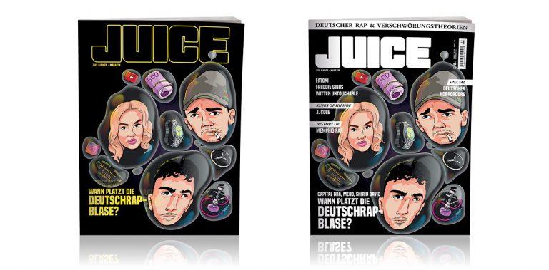 JUICE #192 (Mai/Juni 2019) mit Themen-Cover »Wann platzt die Deutschrap-Blase?« und JUICE-CD #147 ab 25.04. überall erhältlich!