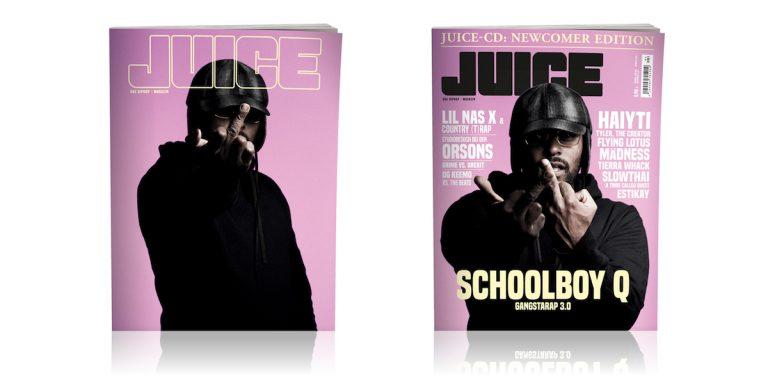 JUICE #193 mit ScHoolboy-Q-Cover und JUICE-CD #148 ab 19.06. überall erhältlich!
