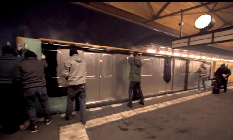 Die 1UP-Crew besprüht an Silvester einen ganzen U-Bahn-Waggon // Video