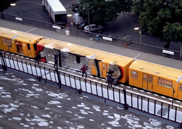 1UP Crew: Erst Wholecar malen, dann abseilen // Video