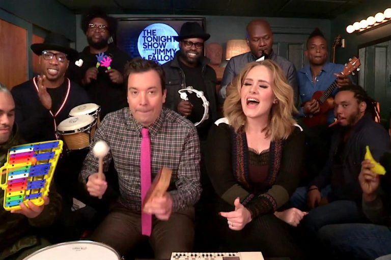 Adele feat. The Roots & Jimmy Fallon – Hello