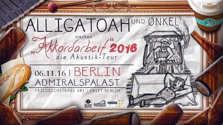 Alligatoah lädt zur »Akkordarbeit«-Akustik-Tour