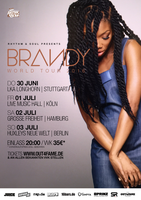 BRANDY GERMANY TOUR 2016