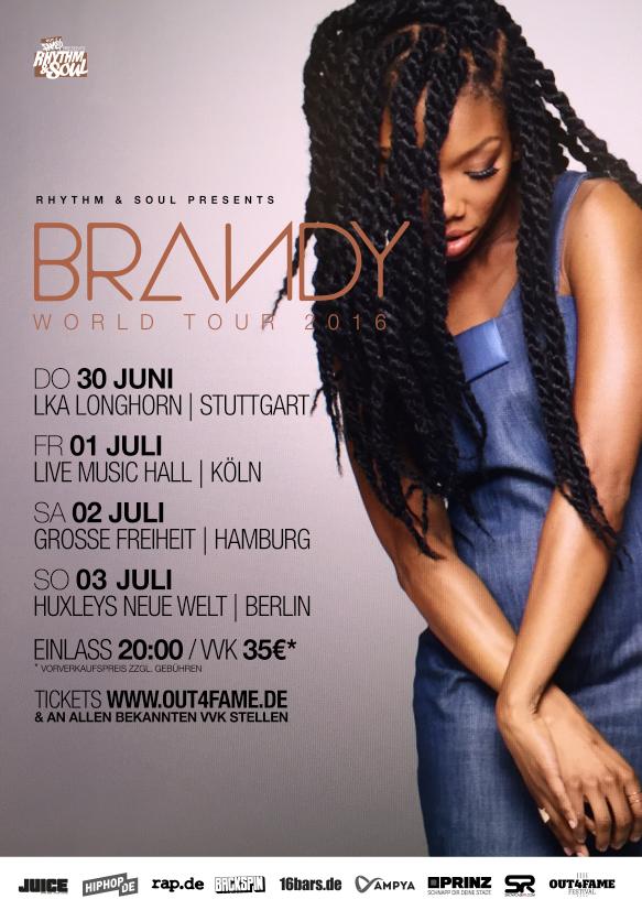 BRANDY GERMANY TOUR 2016