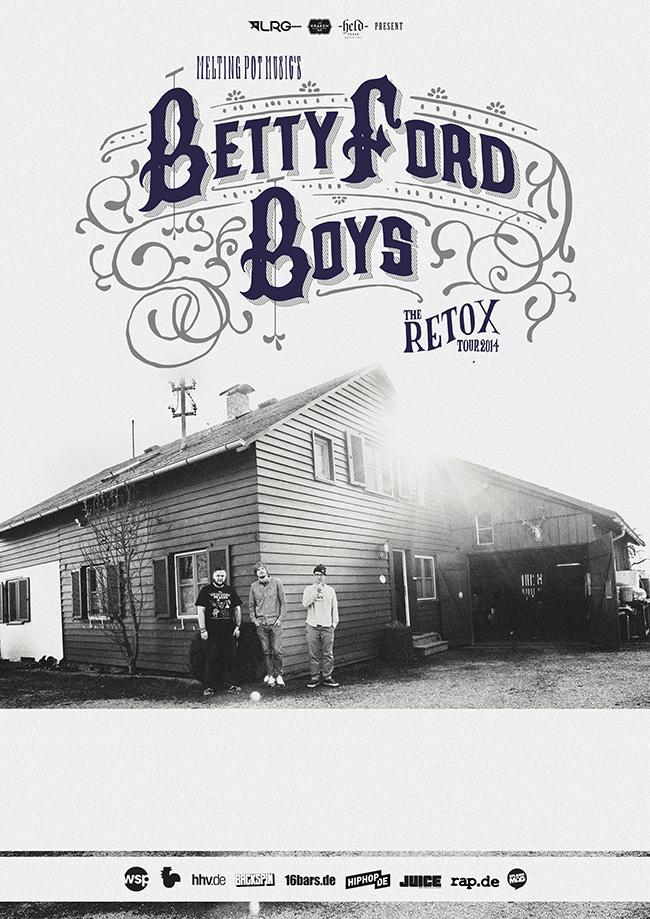 Betty Ford Boys - Retox Tour-Plakat_print