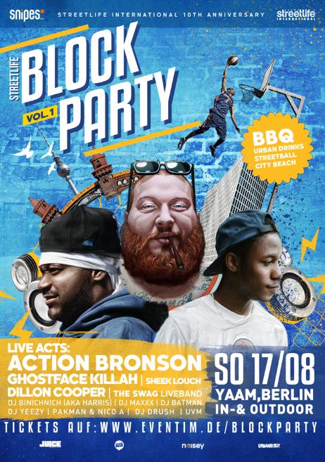 Blockparty Poster Berlin