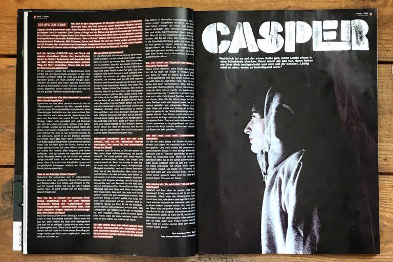 Casper: »Es ist ein straightes HipHop-Album geworden, das sehr in die Boombap-Richtung geht« (2008) // Interview