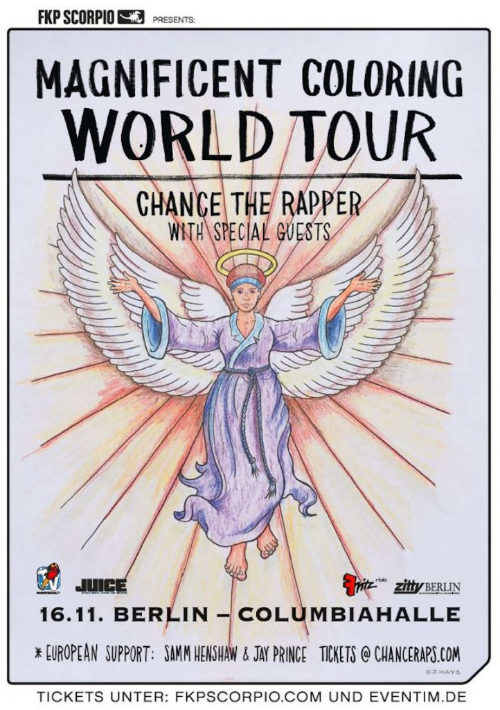 The coloring book chance the rapper tour - Chance_web
