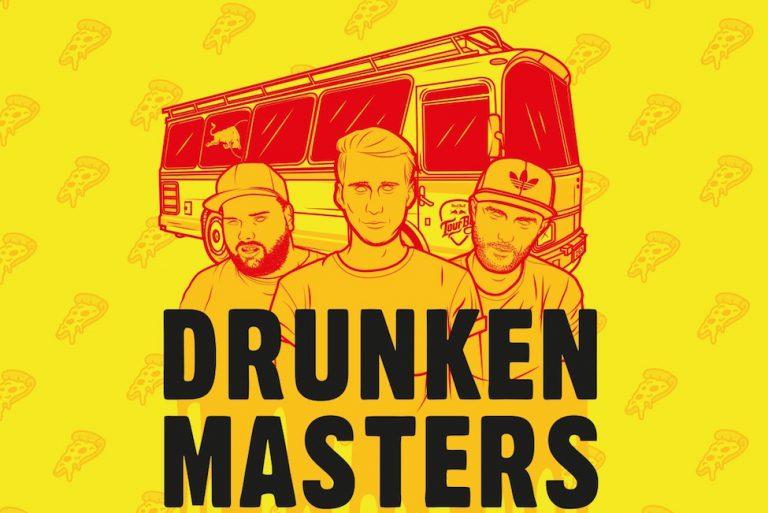 Drunken Masters, DJ Eskei83 und DJ Stickle auf Crispy-Crust-Records-Tour // Live