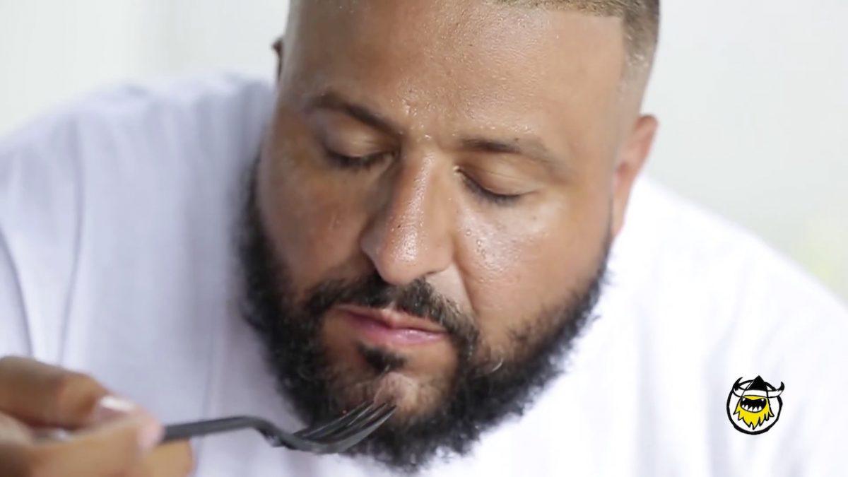 DJ Khaled schwitzt