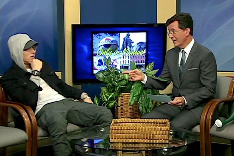 Stephen Colbert interviewt Eminem