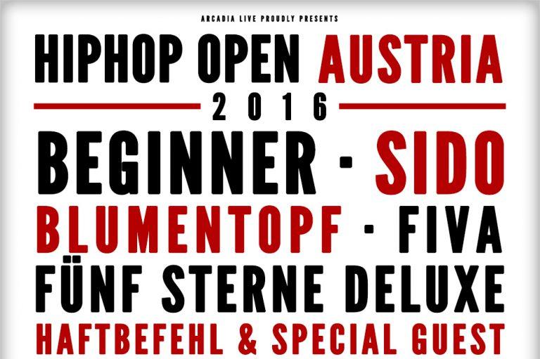 HipHop Open Austria: Haftbefehl, Beginner, Sido, Blumentopf u.v.m. in Wiesen