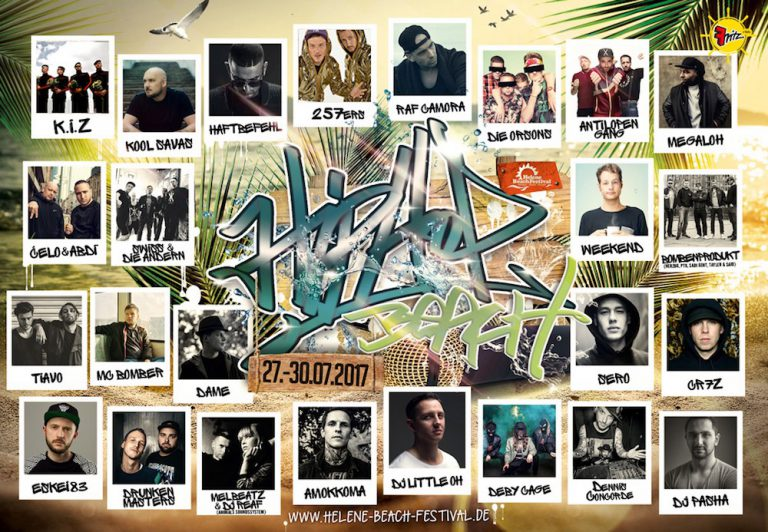 Helene Beach Festival: »HipHop Beach« dieses Jahr mit K.I.Z, Savas, Hafti u.v.m. // Verlosung
