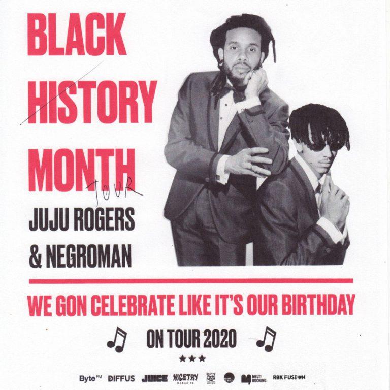 Besucht JuJu Rogers und Negroman auf der »Black History Month«-Tour // Verlosung