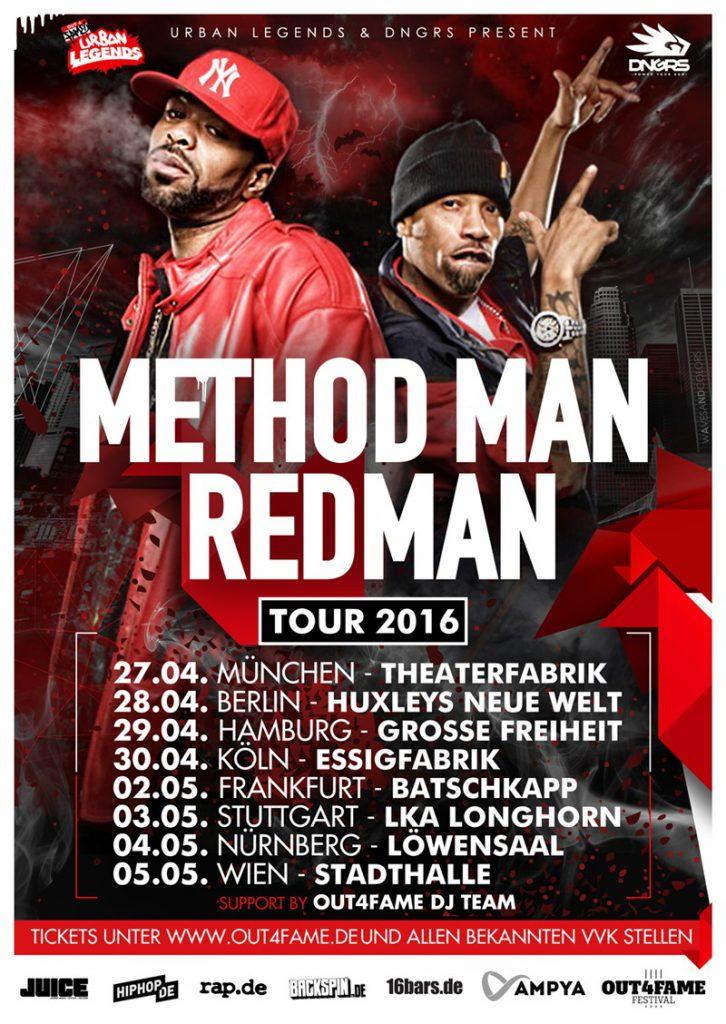 METHOD MAN & REDMAN TOUR FLYER 2016