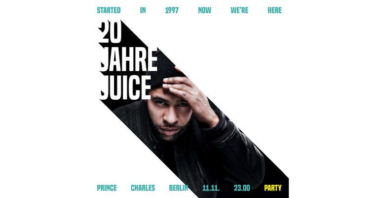 20 Jahre JUICE: Megaloh kommt zur Jubiläumsparty ins Prince Charles // Live