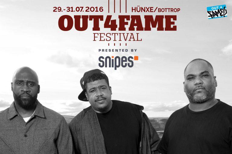 Out4Fame Festival 2016: De La Soul, Rick Ross, Manuellsen u.v.m. bestätigt