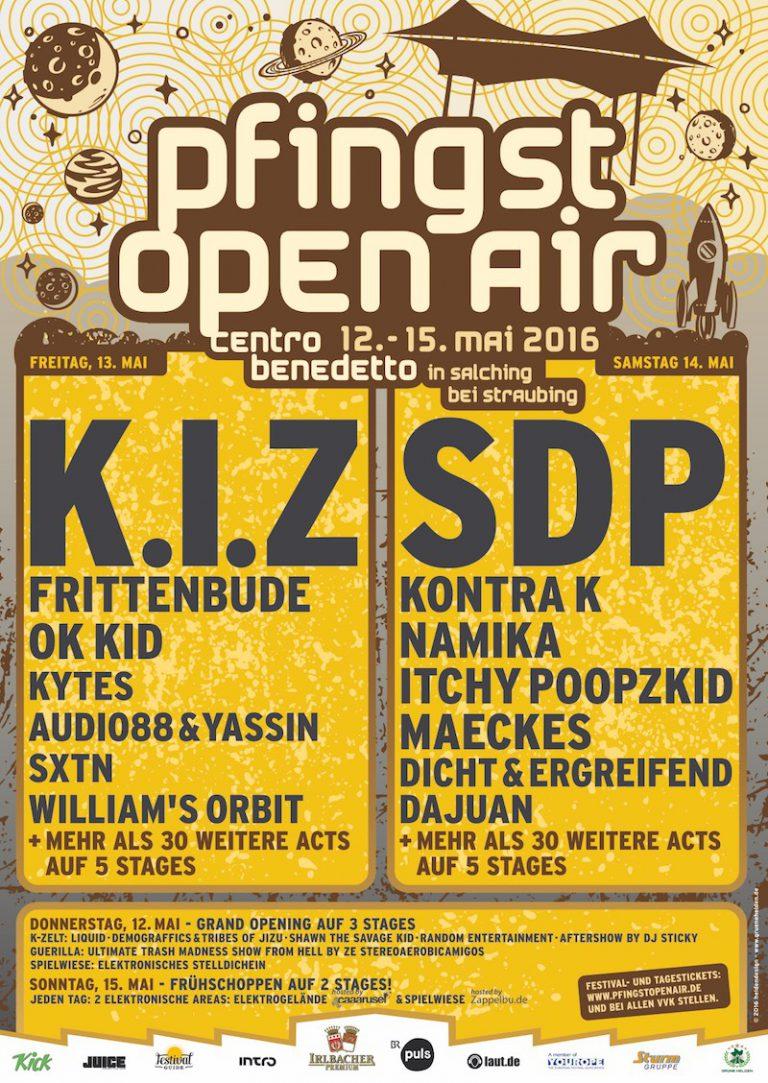Pfingst Open Air: K.I.Z., Kontra K, OK KID, Maeckes, Audio88 & Yassin u.v.m. kommen nach Salching
