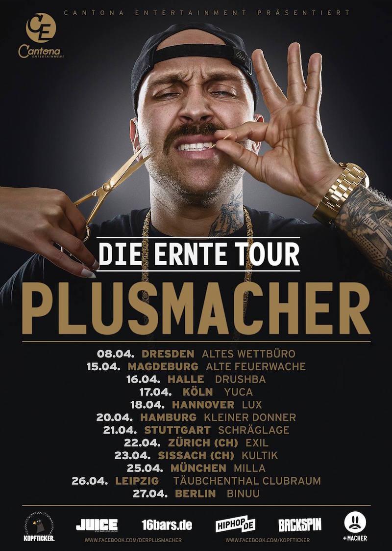 Plusmacher-Tourplakat