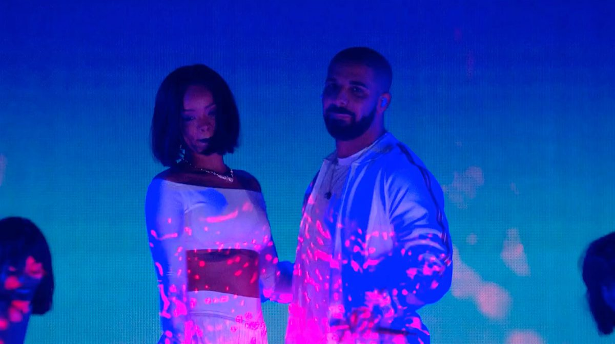 Rihanna Drake BRIT Awards 2016