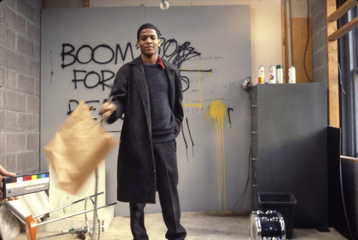 Schirn_Presse_Bertoglio_Basquiat_on_the_Set_of_Downtown_81_1980-81