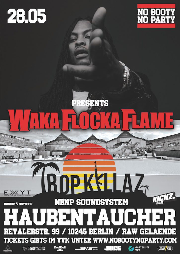 WAKA FLOCKA BERLIN Flyer