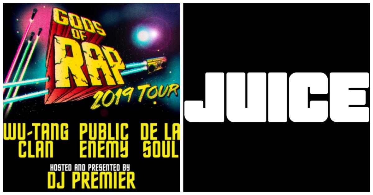 Gods Of Rap: JUICE-Abo abschließen und Wu-Tang, Public Enemy, De La Soul und DJ Premier live erleben! // Live