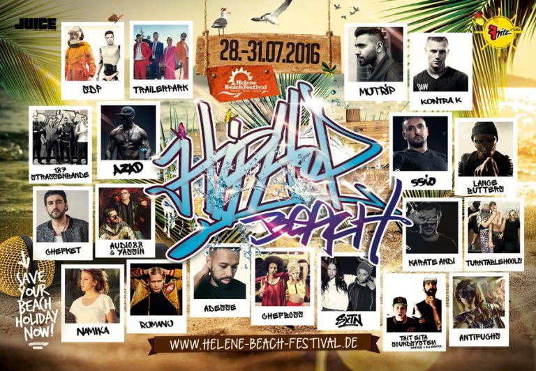 Helene Beach Festival 2016: Das Line-up ist vollständig // Verlosung
