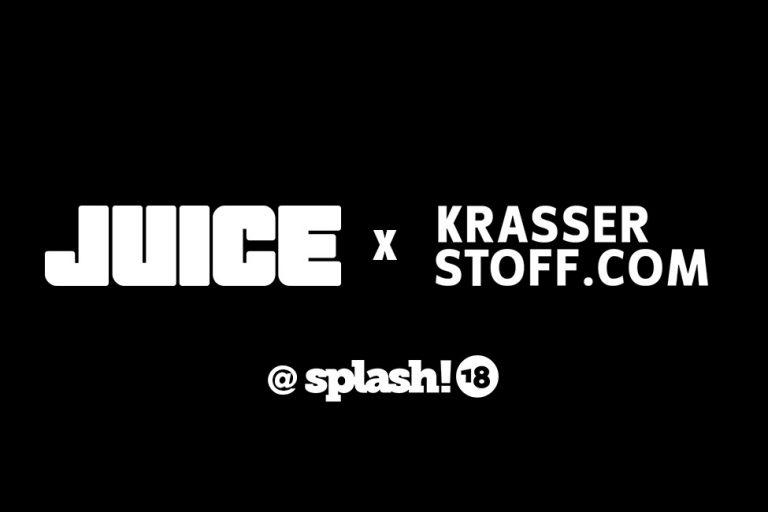 JUICE x Krasser Stoff laden zur Autogrammstunde beim splash!18