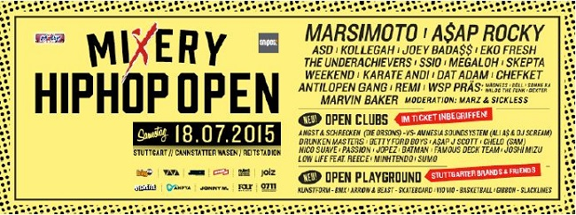 mixery hiphop open flyer