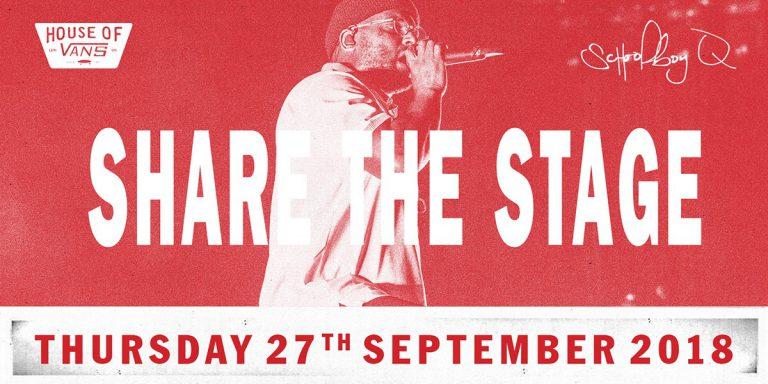 »Share the Stage«: Gewinnt mit Vans einen Slot als Voract von ScHoolboy Q in London // News