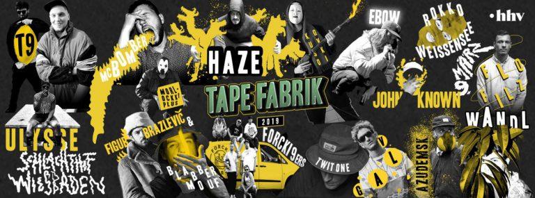 MC Bomber, Haze, FloFilz u.v.m. kommen zur Tapefabrik 2019 // Live